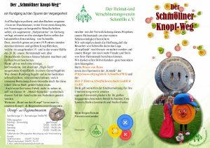 05.08.2017 Knopfweg Schmölln Einweihung Flyer